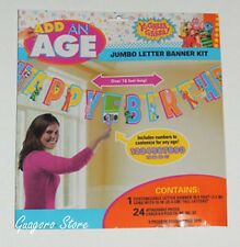 Yo GABBA GABBA! Add Any Age 10 ft Birthday Banner Party Supplies Decorations