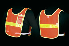 Jogalite Reflective Vest Run Walk Bike Reflexite Orange Mesh ID Holder