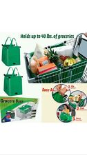 Grab Bag REUSABLE Clip To Cart SHOPPING Container Bag STORAGE EZ CARRY GROCERY