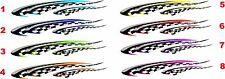 "Boat Car Truck Trailer Motorcycle Graphics Decal flag Stickers set 2- 25"" X 4.3"""