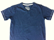 Boys Navy Beige Premium Strength Next V Neck T Shirt 7 y Tee Top Vintage Brand