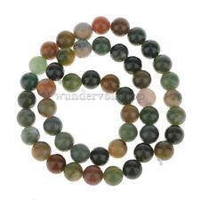 8 mm Rund Grün Blut Achat Perlen Edelstein Perle Kugeln Strang