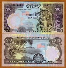 Western Samoa, 10 Tala, ND (2005 2006) P-34 (34b), UNC   Man picking bananas