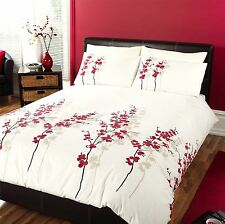 CREAM CHINESE BLOSSOM FLORAL RED BLACK BEIGE DOUBLE DUVET COMFORTER COVER