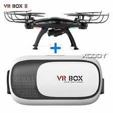 VR Box 2.0 3D Glasses Headset Virtual Reality+Bluetooth Control+Quadcopter Drone