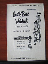 Hey, Look Me Over - Lucille Ball in Wildcat - 1960 sheet music - SSA voice piano