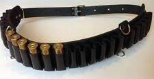 Leather Shotgun Shell Cartridge Belt Holder Bandolier - Holds 24 shells 12ga