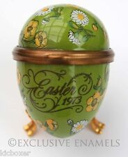 Bilston & Battersea Halcyon Days Enamels Easter Egg 1973