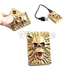 Novelty Windproof Skull USB Rechargeable Electronic Lighter SR1G