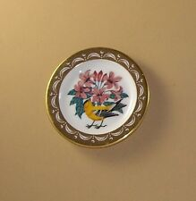 State Birds and Flowers Miniature Plate WASHINGTON Willow Goldfinch Rhododendron