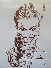 Batman Joker with Gun Stencil Reusable 10 mil Mylar Stencil