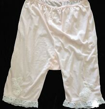 VTG Charmode Panties Knickers Pillow Tab Pink Nylon Cream Lace Diamond Gusset