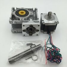 NEMA23 Gear Ratio 30:1 3A L56mm Motor Worm Gearbox Speed Reducer 3D Printer CNC