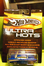 Hotwheels Hot Wheels Die Cast Blue Ultra Hots Chevy Bel Air Flames & Real Tires