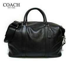 NWT Coach F93471 Duffle Explorer in Leather - Black MSRP $ 695.00