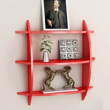 Onlineshoppee Beautiful Red 3 Tier Wooden Wall Shelves/Rack (LxBxH-20x4x19) inch