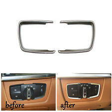 Car Chrome For BMW F30 F31 F32 F34 3 4 Series F15 X5 Headlight Switch Trim Cover