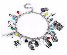 Pretty Little Liars ( 10 Themed Charms) Assorted Metal Charm BRACELET