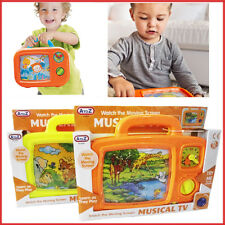 Kids Musical TV Moving Screen Soothing Nap Time Fun Toy Wind Up Baby Toddler Set
