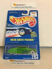 Mean Green Passion #263 * Green * Hot Wheels Blue Card * H77