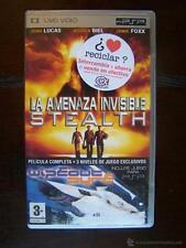 UMD VIDEO PSP - LA AMENAZA INVISIBLE STEALTH - +3 NIVELES DEL JUEGO WIPEOUT PURE