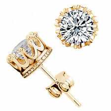 Up Stunning nice lady 18K gold filled white crystal stud earring