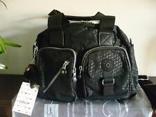 New Kipling Defea Black Plover Case HandShoulderX Bag+ Fluffy Monkey