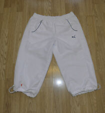 White Polyester PUMA Straight Slouch Sport Casual Shorts Capri Size 12 / 36 L 18
