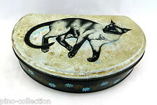 SCATOLA ANTICA LATTA GATTO Huntley & Palmer Antique cat tin box