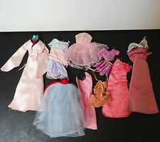 Mattel Barbie 70s 80s doll clothes lot of 10 Satin Robe & night gowns cape