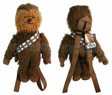 "STAR WARS PLUSH BACKPACK! CHEWBACCA BROWN SOFT DOLL FIGURE DISNEY 15"" NWT"