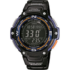 Casio New Original SGW-100-2B Twin Sensor Watch Thermometer Compass SGW-100