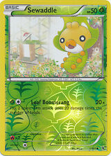 Sewaddle Common Reverse Holo Pokemon Card BW3 Noble Victories 1/101