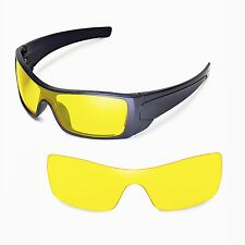 New Walleva Yellow Replacement Lenses For Oakley Batwolf Sunglasses