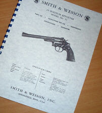 SMITH & WESSON .22 MAGNUM REVOLVER Pistol MODEL 53 Gun Manual