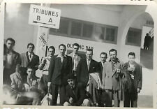 PHOTO ANCIENNE - VINTAGE SNAPSHOT - FOOTBALL SUPPORTER STADE MARSEILLE OLYMPIC