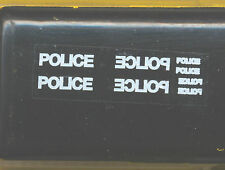 24 x White POLICE and mirror image DECALS ideal for code 3models