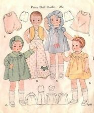 """OLD 19"""" PATSY ANN DOLL CLOTHES PATTERN 1918"""