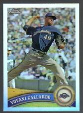2011 Topps Yovani Gallardo Milwaukee Brewers #61 Baseball Card/MINT