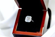1.13 Carat  Emerald Cut Diamond 14K White Gold Engagement Ring RRP $ 4250