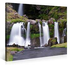 Stretched Canvas Print - MOUNTAIN WATERFALLS Large Landscape Wall Art e4833