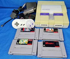SNES Console LOT Super Scope 6 Wings John Madden Football Bases Loaded NINTENDO
