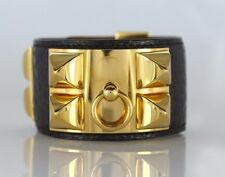 HERMÈS Collier De Chien 18K Yellow Gold Electricity Plated Alligator Bracelet