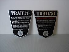 Honda TRAIL70 CT70 KO OE Style 2pc. Side Frame IMPORTANT Vinyl Decal Set 69-71
