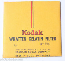 "Kodak G Wratten Gelatin Filter - 76mm x 76mm 3x3"" Square - NEW Old Stock"