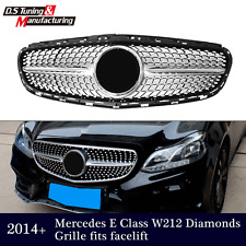 Diamond Grille front Grill for Mercedes Benz W212 E Class E350 E550 with Star 14