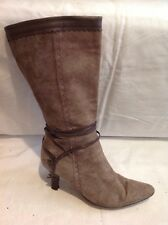 Clarks Brown Mid Calf Leather Boots Size 7