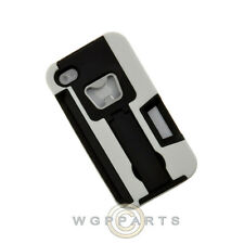 Apple iPhone 4/i4S Dual Layer Bottle Opener Case w/ Stand White Case Cover Shell