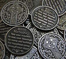 Celtic Cross Irish Blessing Pocket Token Coin Bulk Lot of 10