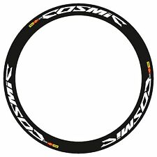 SALE! MAVIC COSMIC CARBONE SL OR SLR RIM DECAL SET IN WHITE COLOR BLACK OUTLINED